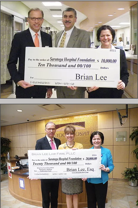 Photo of Brian Lee Donating $10,000